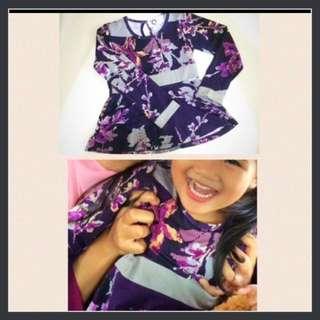 Orchid baju kurung / peplum / baju raya / purple