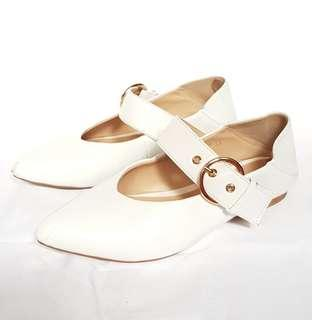 Stacatto White Leather 4-way Mules
