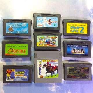 Game Boy Advance 8隻 + 1 GameBoyColor (合售不散)