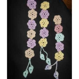 Crocheted Bookmarks in assorted colours