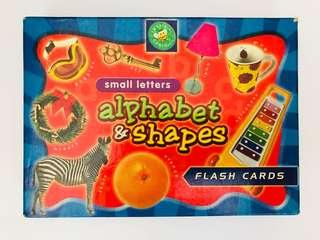 🚚 Flash cards - Small letters alphabets & shapes