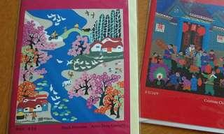 Cards chinese culture peach blossoms