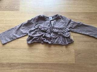 🚚 Carter's 24m baby jacket cardigan top with ruffles