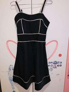 Midi Dress Size S Black