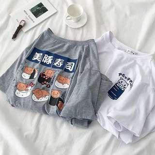 🚚 ✨(mcs) sushi with little pigs tumblr graphic tee