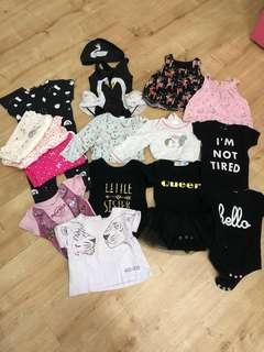 Bundle of Baby girl's apparels NB-12Mths