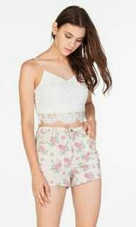 (BN) TCL Floral Shorts