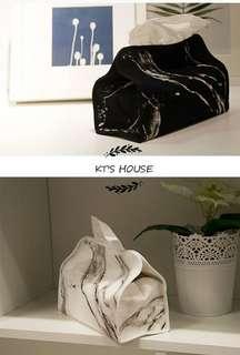 [居家生活]質感2色大理石紋衛生紙巾套&點點紙巾套