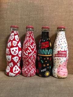 [全新] Coca Cola可口可樂中國2018年美好寓意限定玻璃瓶可樂(一套四支)