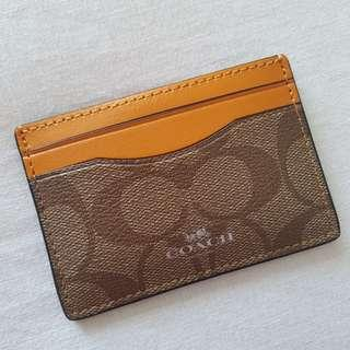 Authentic COACH card case holder