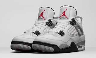 WANT Jordan 4 White Cement US7.5-9