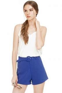 (BN) TCL Cobalt Blue Belted Shorts