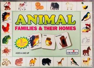 🚚 cards - Animal families and their homes