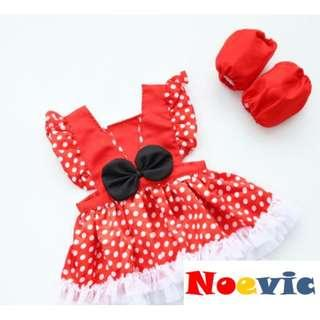 🚚 Red Polka Dot Minnie Like Dress for Little Girl (NCD 017)
