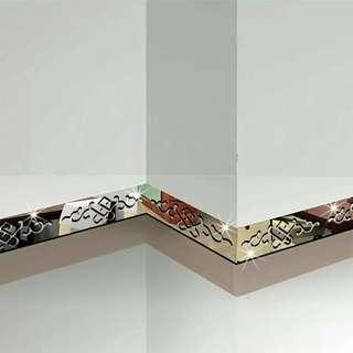 🚚 5pcs Ceiling Wall Decoration Sticker 3D Mirror  Waist Line