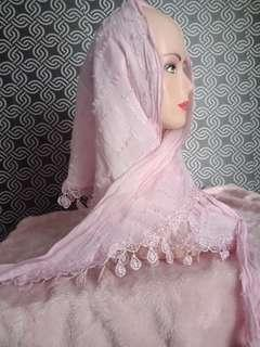 Scarf pink lucu