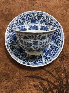 Tea bowl and saucer 茶杯与盘