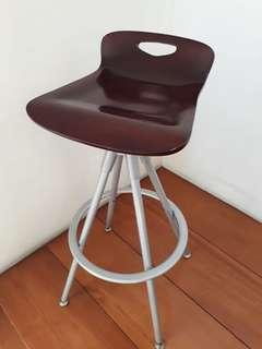 Red Wood High Chair