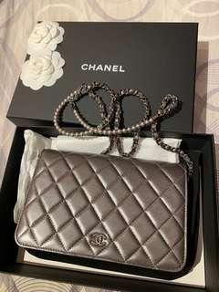 Chanel WOC with pearls