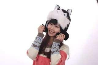 🚚 Cute winter animals hat with scarf