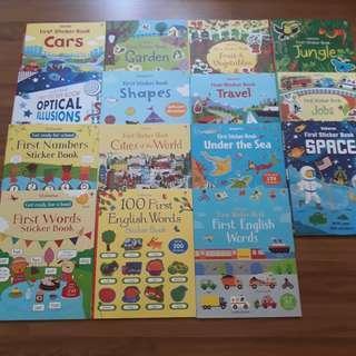 Sticker books (15 titles)