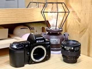 [清屋平售] NIKON F-801 機身連 35-70mm自動對焦鏡頭 --- 1/8000高速快門,多重曝光,試玩菲林單反首選