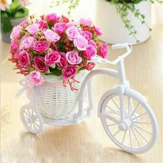 🚚 Set flowers roses plastic home accessories home decoration