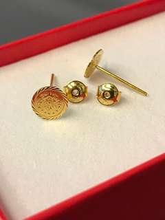 Instock‼️Earrings: Genuine 21K Gold