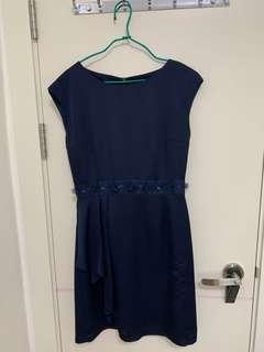 WANKO 深藍色連身裙