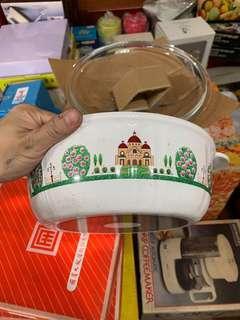 🚚 日式瓷鍋 透明蓋  全新沒用過