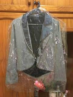 Duo-tone lined blazer (XS)