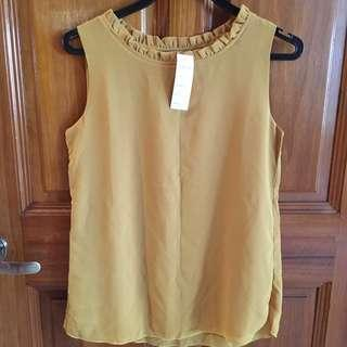 BNWT Mustard Yellow Blouse