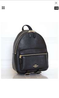 ac96f48109e05 BNWT Authentic Coach Mini Charlie Backpack in Pebble Leather