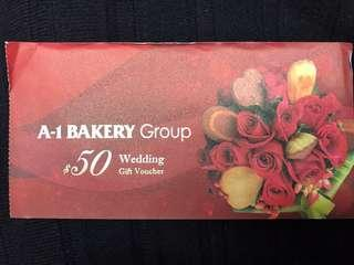A1 Bakery $50現金禮卷
