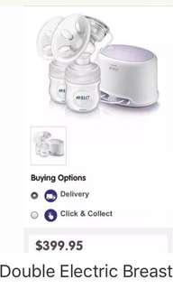 Avent Double Breast Pump & Bag