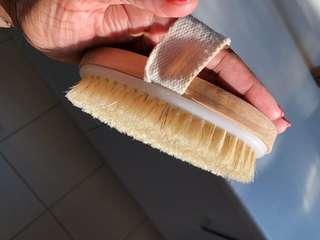 Dry body brush - natural bristles - NEW