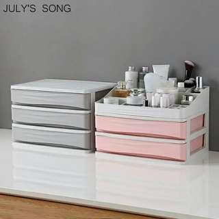 🚚 Plastic Cosmetic Organizer Makeup Storage Box Container Nail