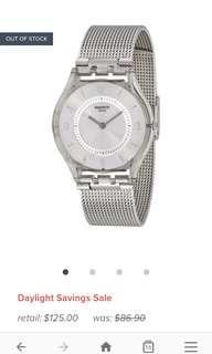 🚚 Swatch Metallic Knit Classic Women's Watch