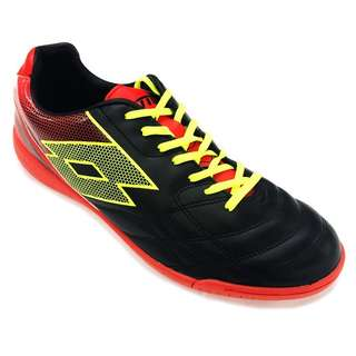 709ea1dfbd4d2d Lotto Spider XI ID Indoor Futsal Boot Red Black Yellow Male