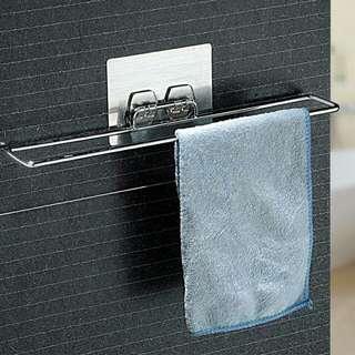 🚚 Creative Design Chrome Plated Metal Home Seamless Vacuum Suction Cup Towel Rack Bathroom Towel Rack Towel Hanging Rack