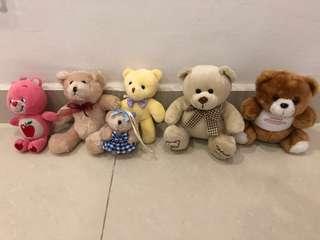 Soft toys bears