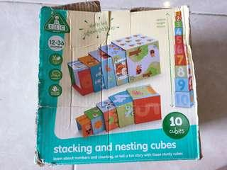 ELC stacking and nesting cubes