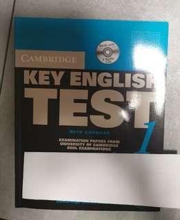 KET Key English Test 1 by Cambridge Books for Cambridge Exams