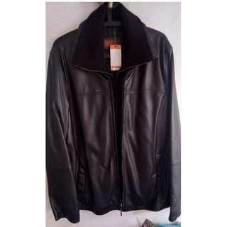 BRAND NEW BLACK Genuine Leather jacket << Size M >>