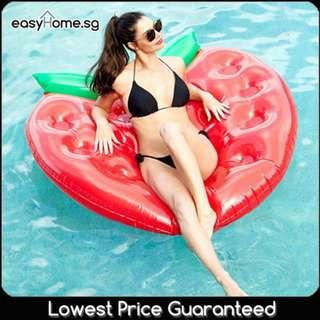 🚚 Strawberry Fraise - Adult Giant Floaties Beach Swimming Pool Float