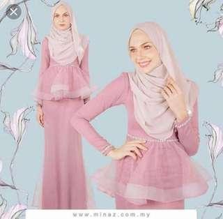 Rent Dress Organza Peplum Kurung Maryam Minaz