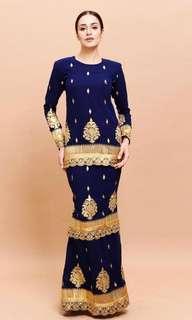 Rent Jaipur Saree Kurung Dress Dark Blue Qiszar