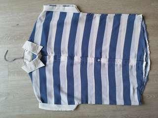 🚚 Striped blue and white nautical casual top