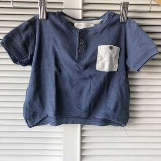 Zara Babies Blue and Grey Shirt