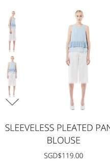 Collate The Label Sleeveless Pleated Panel Blouse